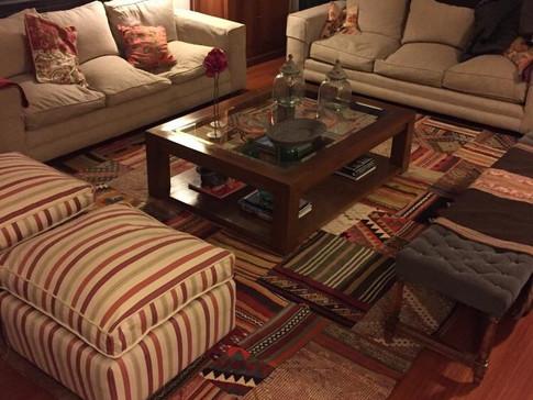 Living Room Patchwork Carpet