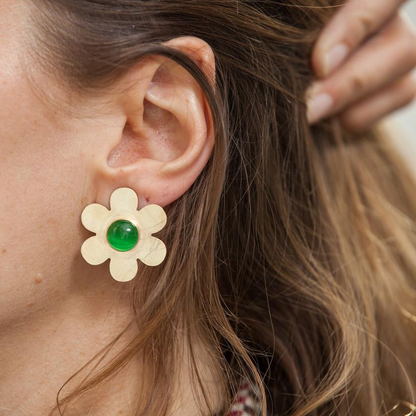 Cities in Dust Flower Earrings