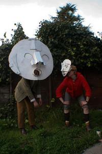 Scout Tran Cardboard Masks
