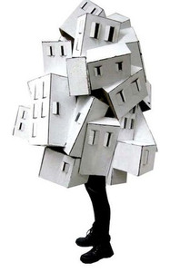Cardboard House Costume by Mari Iwahara