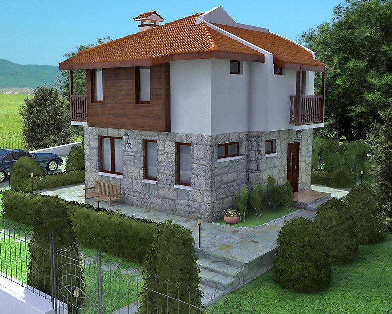 Дървена еднофамилна къща