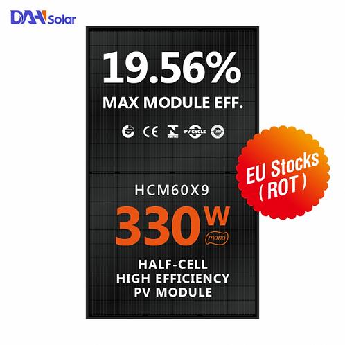 Half Cell 9BB Mono Solar Panel 330W Full Black