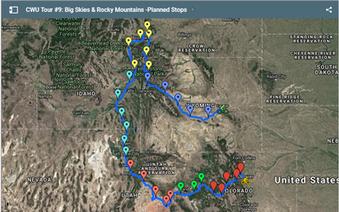 CWU Tour #9: Big Skies & Rocky Mountains