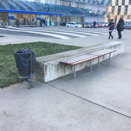 Gap over trash box  