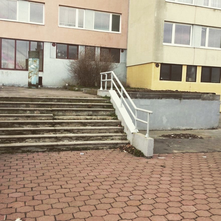 Rail with kink​ 8 stairs