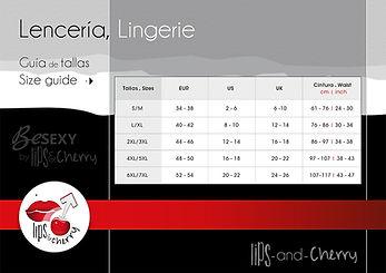 Guía de Tallas, Guide Size Lips-and-cherry