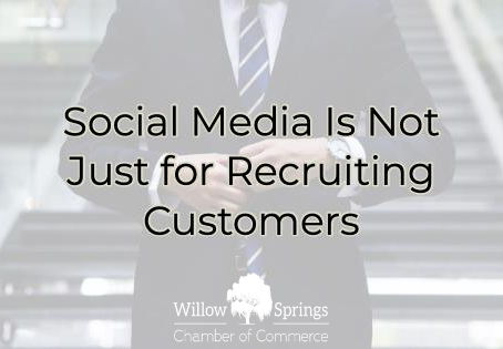 Social Media is for more than Recruiting Customers!