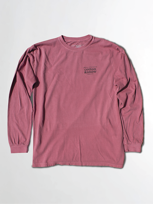 Long Sleeve Logo Sangria