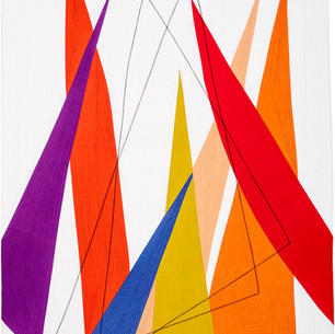 COMPOSITION WITH TRIANGLES II  30 x 21 inches  Private Collection   Sharon, CT
