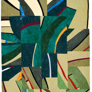 VORTEX  44 x 23 inches Private Collection Sharon, CT  2011 Quilts=Art=Quilts Schweinfurth Art Center Auburn, NY