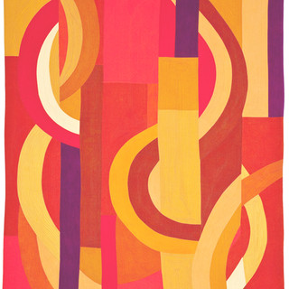 RHYTHM AND RHYME  71 x 45 inches Artist's Collection Sharon, CT     2012 Quilts=Art=Quilts Schweinfurth Art Auburn, NY