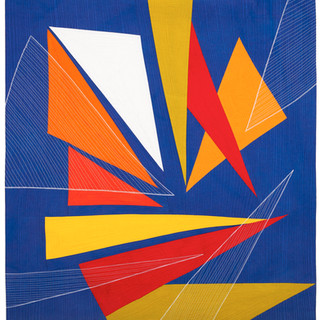 COMPOSITION WITH TRIANGLES III  34 x 38 inches    Private Collection   Bristol, RI
