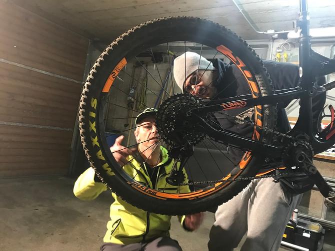 Bilder vom Bike-Reparaturkurs 21.03.2018