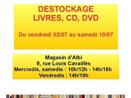GRAND DESTOCKAGE LIVRES, CD, DVD