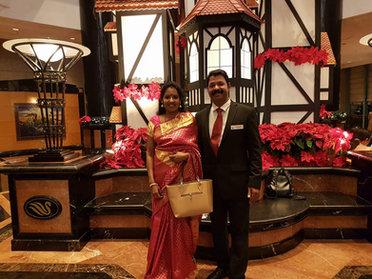K Babumon & His Wife Beena Babu