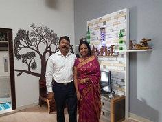 Babumon & his wife Beena Babu