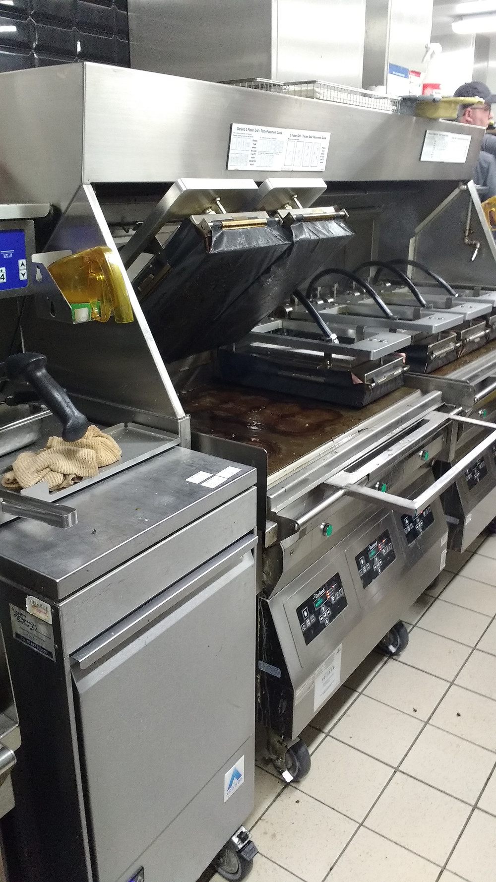 State of the art burger thickness detecting grills