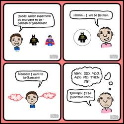 Candid Daddy - Superhero choice
