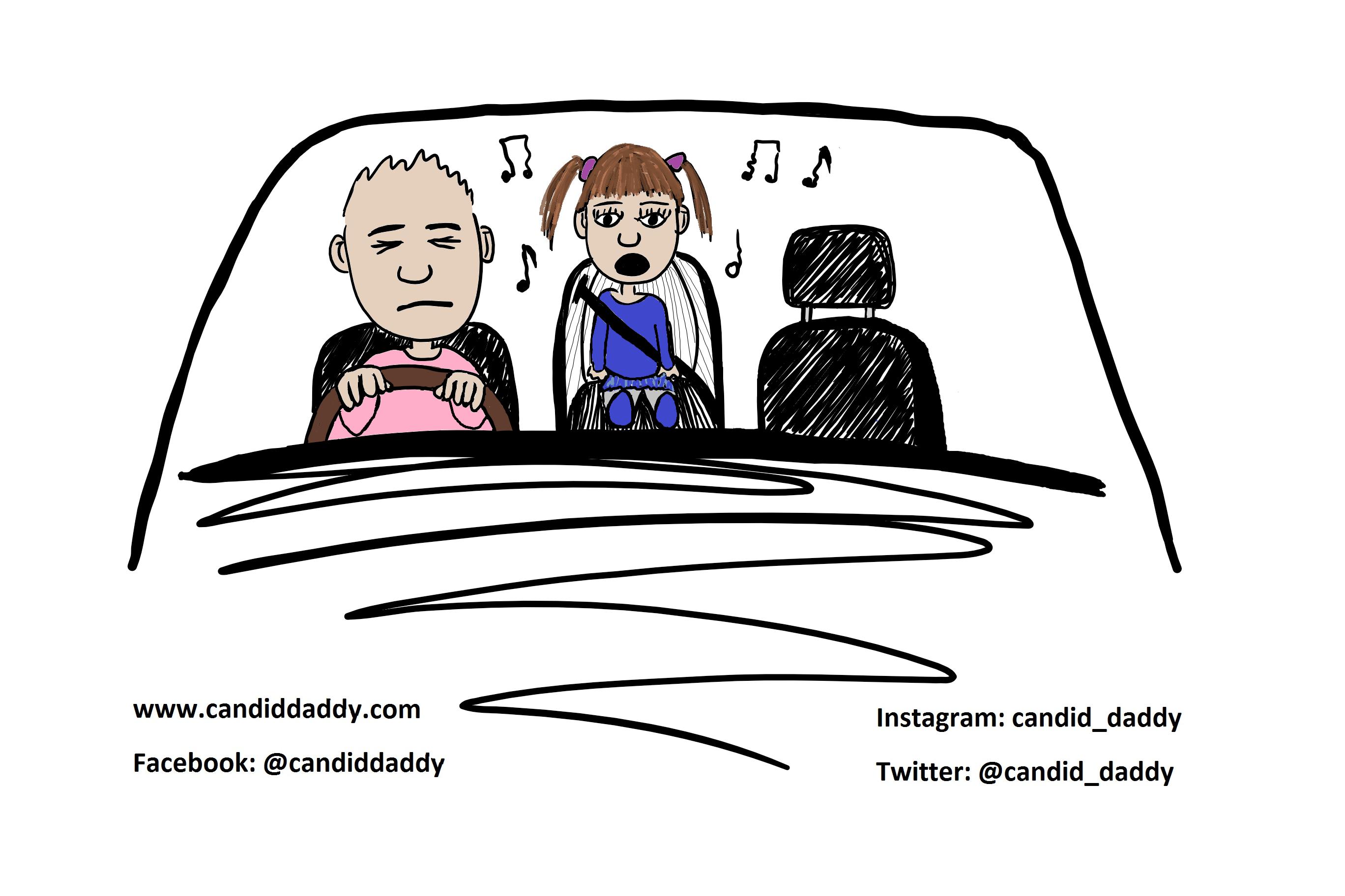 Candid Daddy - Car Sing