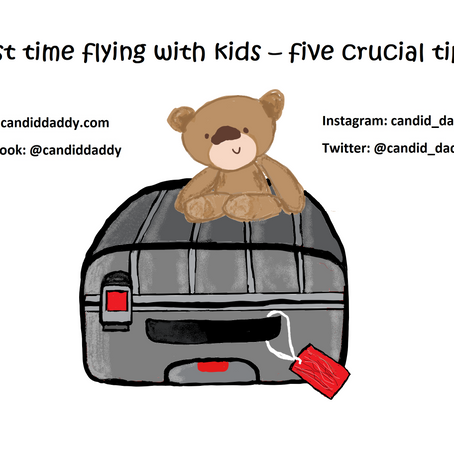 First time flying with kids – five crucial tips