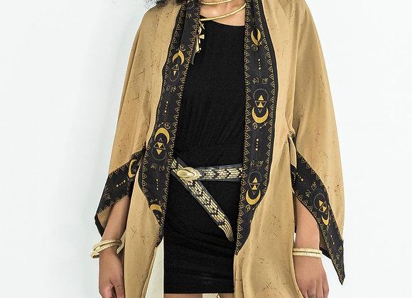 Draped Shawl Kimono