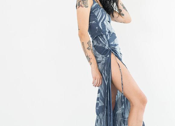 Teal Starburst - Classic Low Back Dress