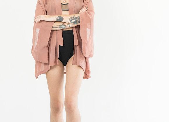Dusty Pink Sheer Kimono