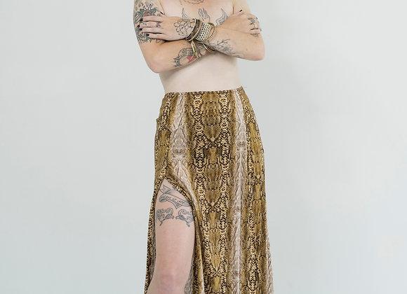 Snake - Peaked Split Skirt