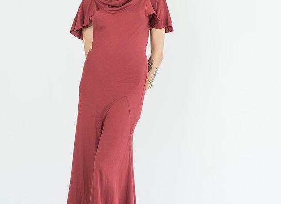 Scarlet Red Butterfly Sleeve Dress