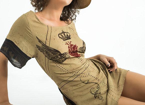 Flounced Back Dress