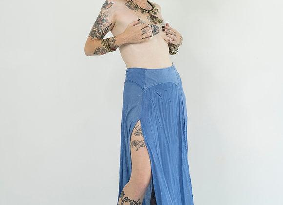 Cornflower Blue Peaked Split Skirt