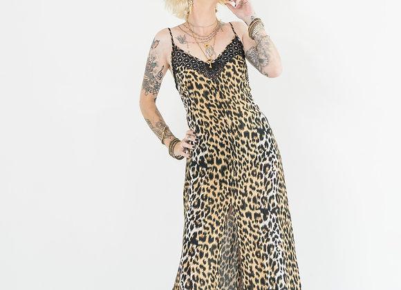 Leopard & Lace - Peek-a-boo Slip Dress