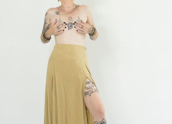 Dusty Cream Peaked Split Skirt