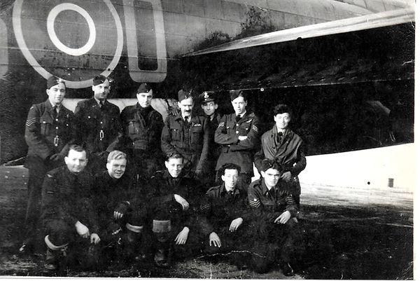 Lancaster Bomber O Oboe Flight Crew & Ground Crew