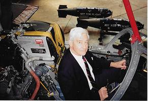 Jim Glasspool in the cockpit of a Tornado aircraft of XV Squadron RAF