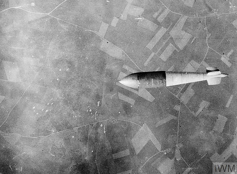 Tallboy bomb being dropped on Watten, France 19 June 1944