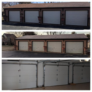 Before After And Inside Garage Door Install