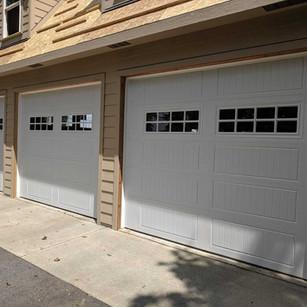 New Construction Garage Door Install