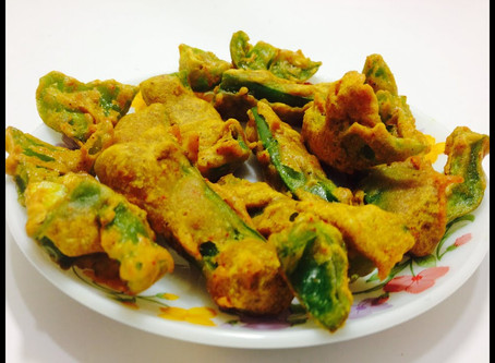 Bell pepper Pakora with Nigella Seeds