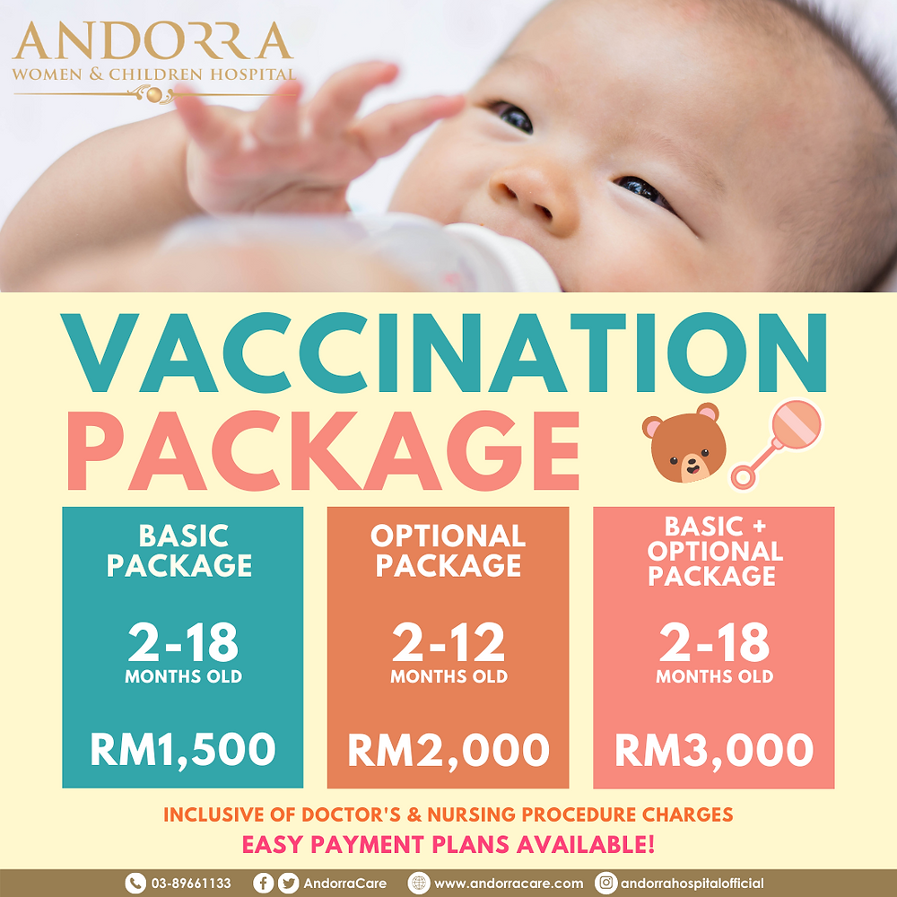 👶🏻 VACCINATION PACKAGES NOW AVAILABLE AT ANDORRA! 👶🏻