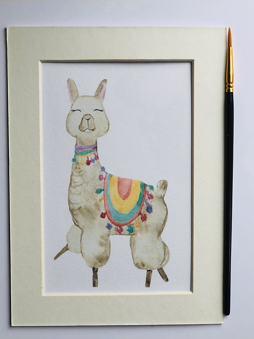 Colourful Llama Print
