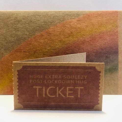 Rainbow Kraft Card with Hug Tickets