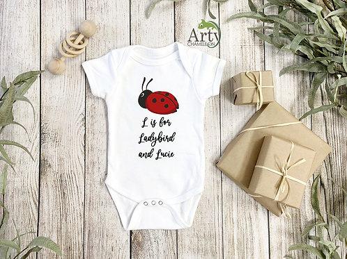 Ladybird Onesie Baby-grow / Ladybug Bodysuit