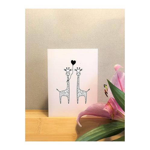 Black and White Giraffe Couple