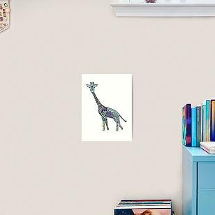 tattoed giraffe colourful-print-art.jpg