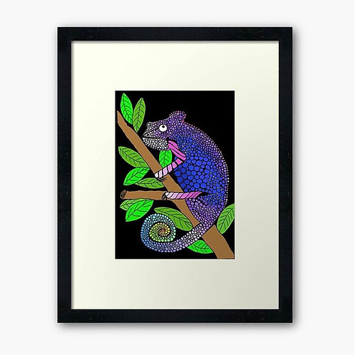 Colourful Chameleon Print
