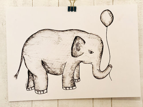 Pen & Ink Elephant