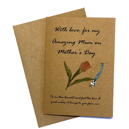 Perfect Pink Tulip Mother's Day Card