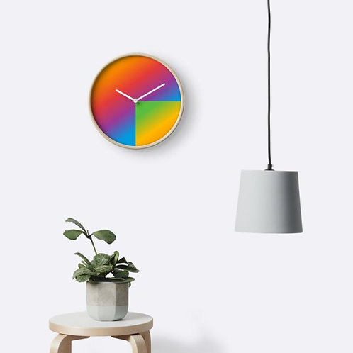 Abstract Rainbow Clock