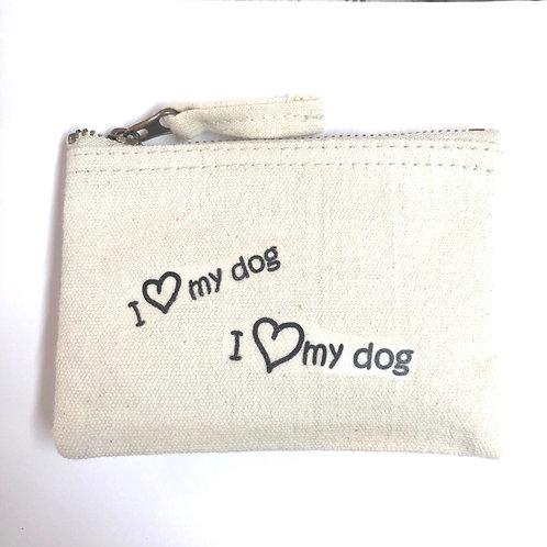 I ❤️ my dog Zipper Purse